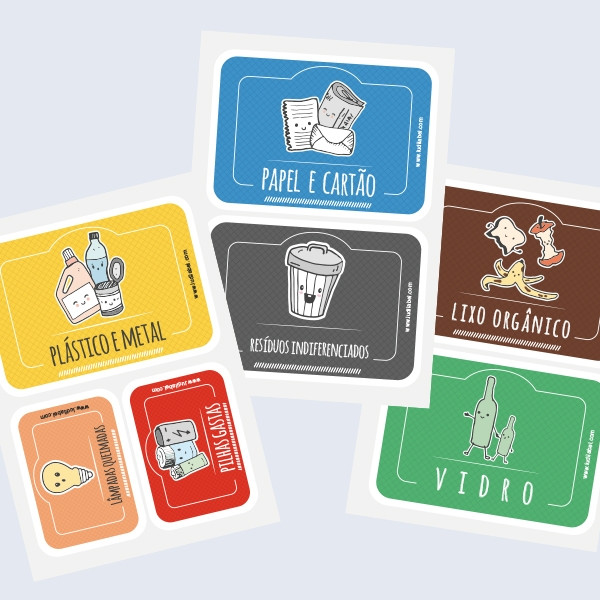 Etiquetas Autocolantes Para Reciclagem