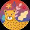 Jungle Vibes (24 etichette rotonde)