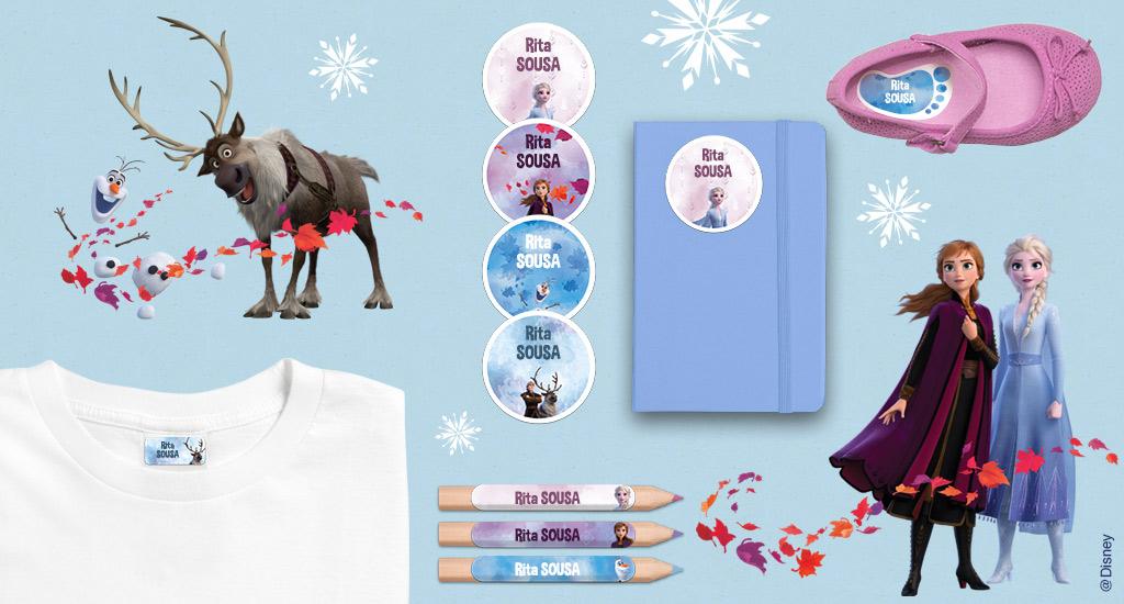 Etiquetas Raínha da Neve ! Frozen 2