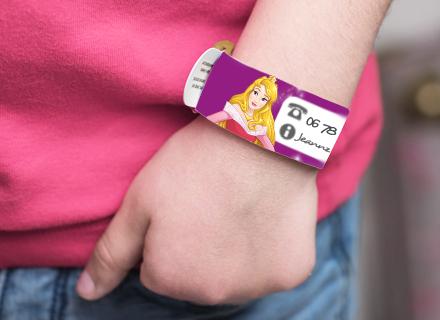 Bracelet de sécurité enfant Princesses Disney