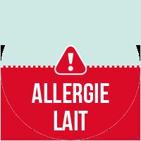 Etiquette Allergie Lait