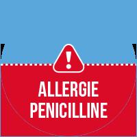 Etiquette Allergie pénicilline
