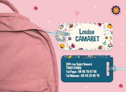 L'étiquette de bagage Floral