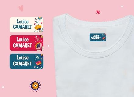 """Des étiquettes Ludisticks """"Floral"""" sur des t-shirt"""