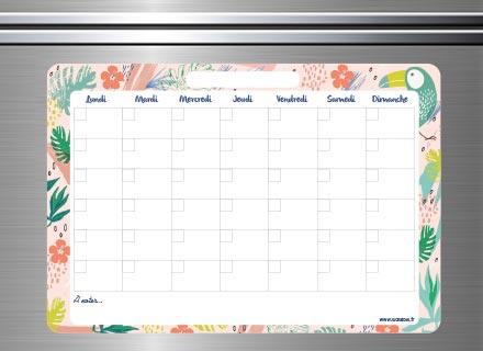 Un planning pour marquer les activités du mois