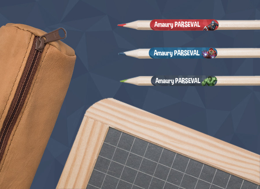 As etiquetas Vingadores para marcar las pertences