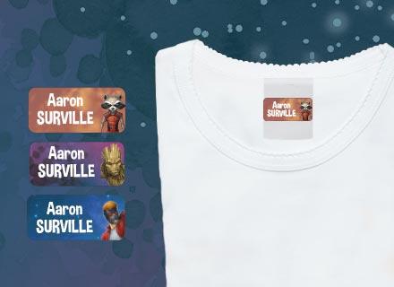 Etiquetas autocolantes para roupa Marvel : Gardiões da Galáxia