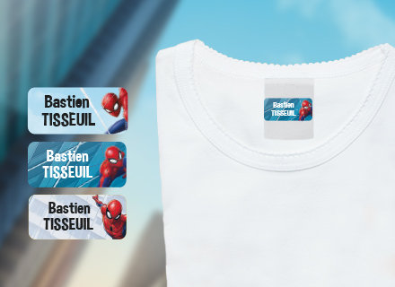 Etiquetas personalizáveis autocolantes Spiderman