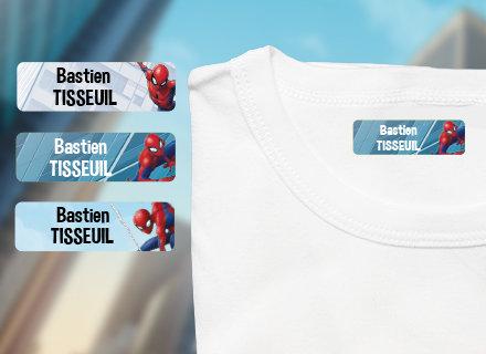 Etiquetas termoaderentes Spiderman