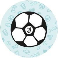 Etiqueta bola de futebol da Juventus