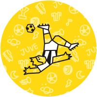 Etiquetas jogadores de futebol da Juventus