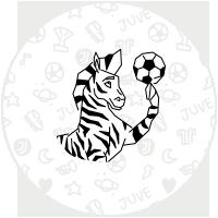 Etiquetas zebra da Juventus