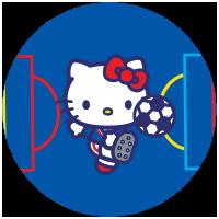 Etiquette Hello Kitty Licorne