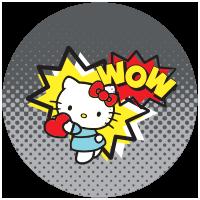 Etiquette Hello Kitty Coeur