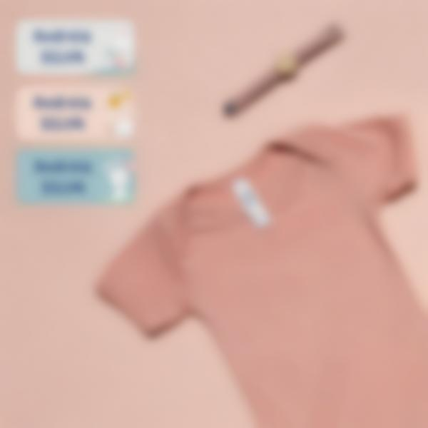 2.pack de etiquetas ludisticks creche coelho