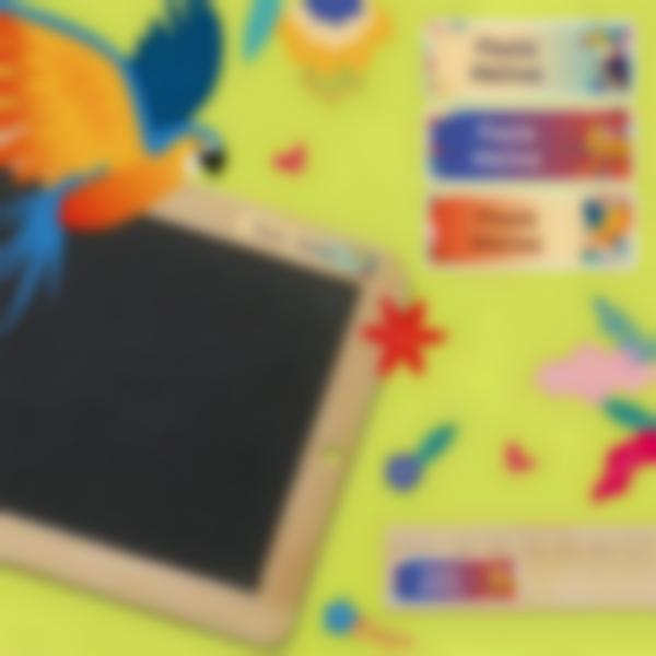 3 pegatinas material escolar jungle vibes 1