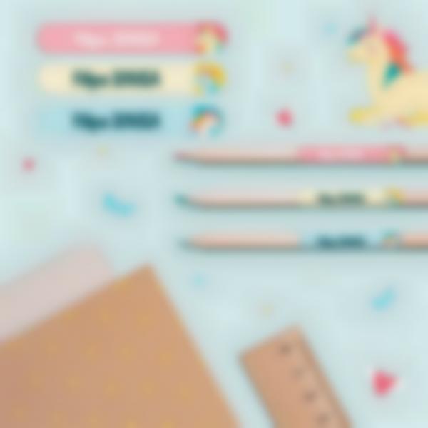 5 pack etiquetas ensino basico material escolar unicornio 21.