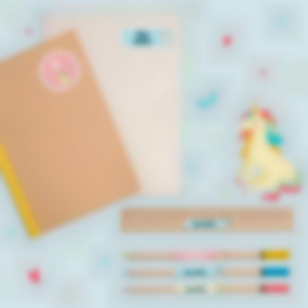 6 pack etiquetas ensino basico material escolar unicornio 21.