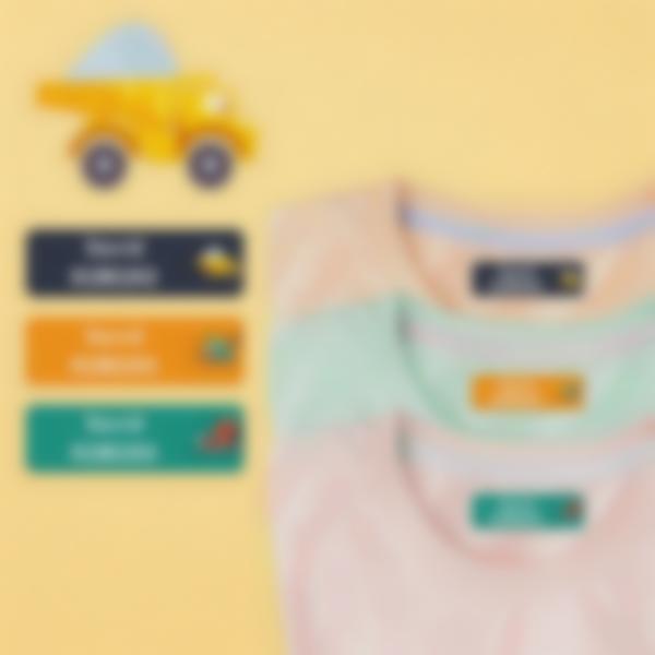 6 pack etiquetas jardim de infancia construcao