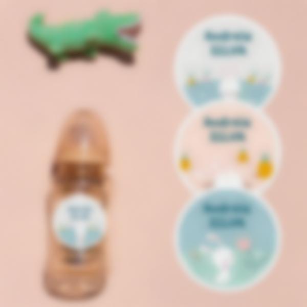 6.pack de etiquetas creche coelho