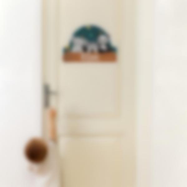adesivos etiquetas autocolentes personalizados portas quarto animais 1