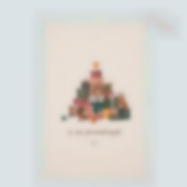 cabaz personalizado do pai natal monte de presentes 1