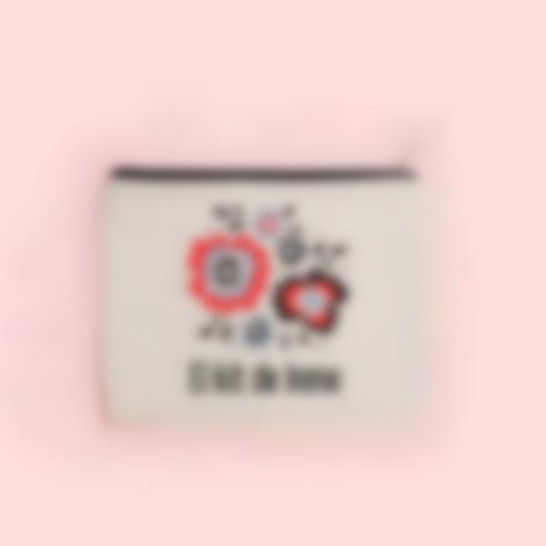 estuche de tela personalizado flores 2