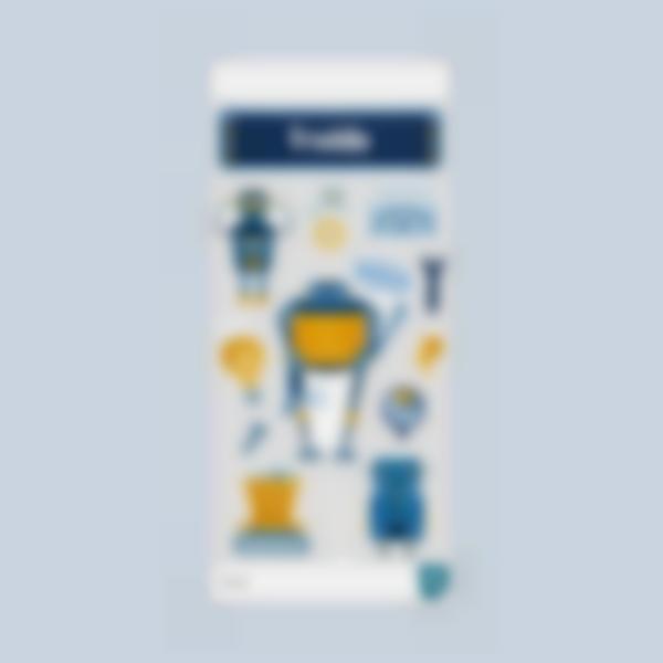 etiquetas cantimplora gourde garrafa borraccia robot  2