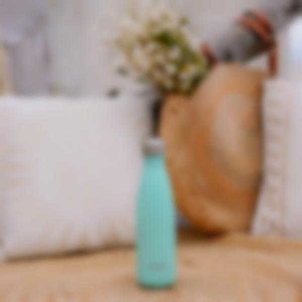 garrafa aco inoxidavel pastel verde 500ml ambiance