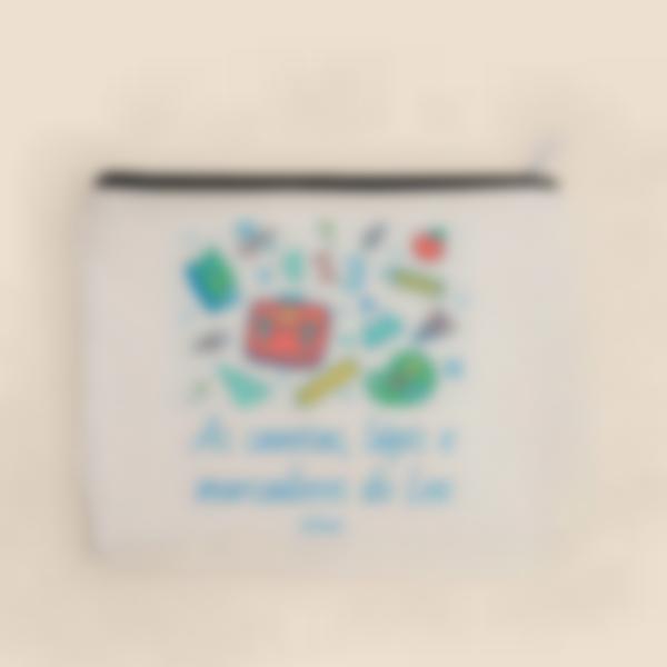 pochette tecido personalizada material escolar 2 1