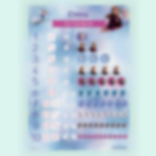 poster cartaz numeros frozen 2