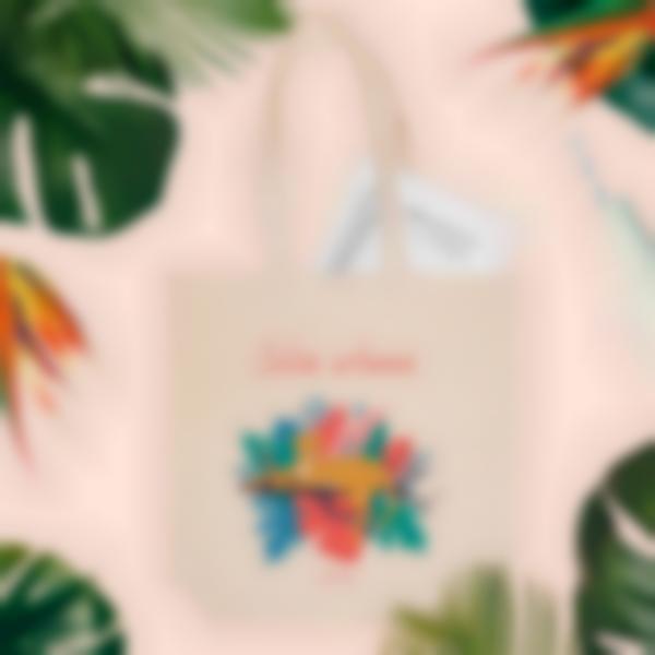 saco de tecido personalizado jungle vibes 1