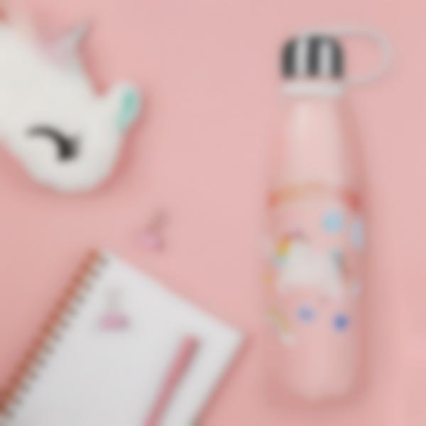 stickers garrafa agua infanteis unicornio 3