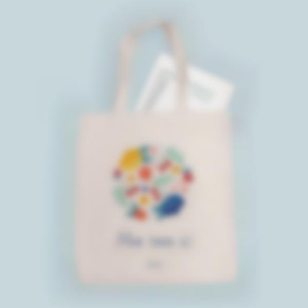 tote bag personnalise fleurs 3