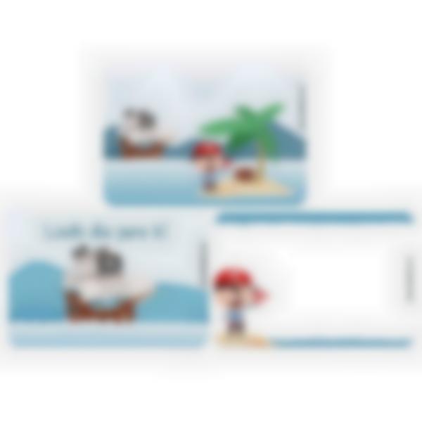 Recarga de 3 cartões magnéticos paraLudibox - lancheira – Pirata