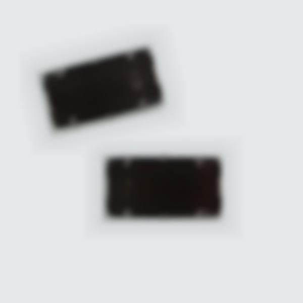 2 almofadas tinta preta para carimbo