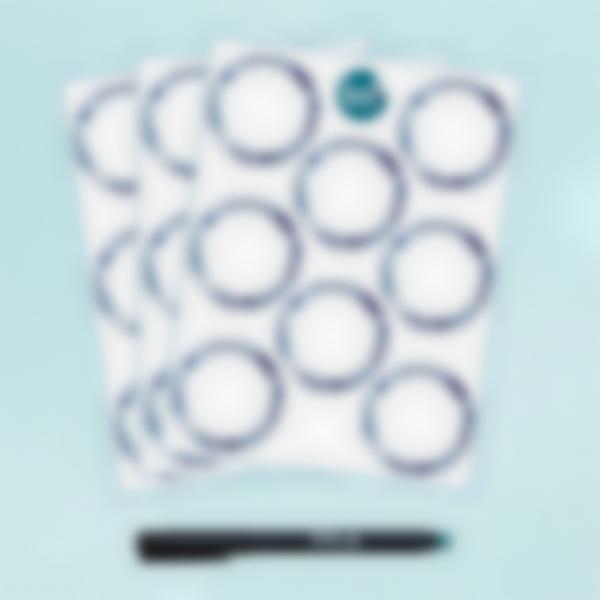 Etiquetas Brancas Redondas apagáveis  x 24 - Azulejos