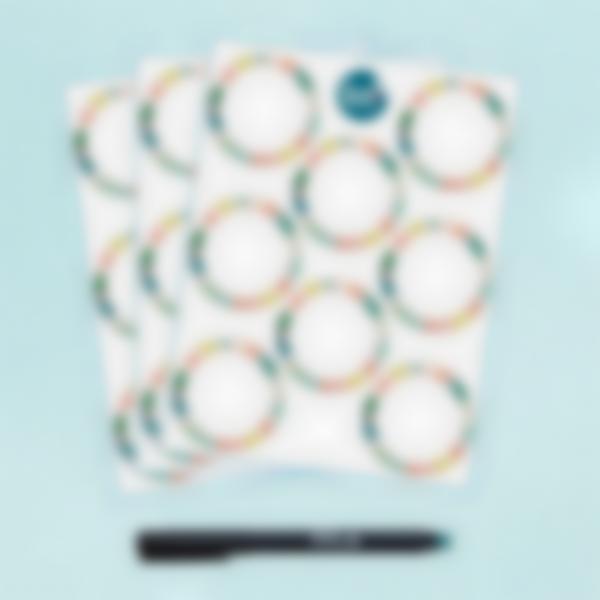 Etiquetas Brancas Redondas apagáveis x 24 - Tropical