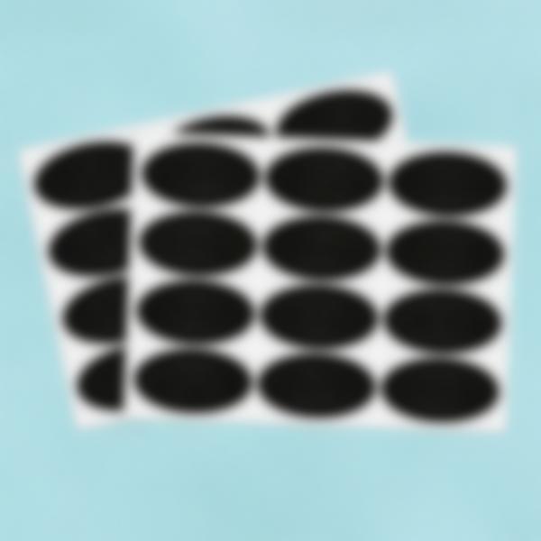 24 etiquetas pequenas Ardósia apagavéis – Ovais