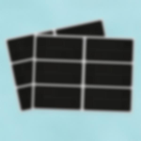 12 etiquetas grandes Ardósia apagavéis – Retângulos