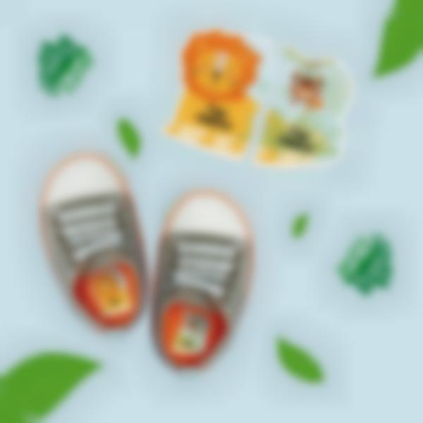 Etiquetas intuitivas esquerda/direita para calçado