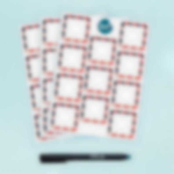 Etiquetas Apagáveis Quadradas x 33 - Nina