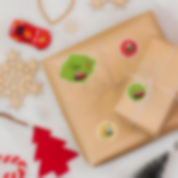 Etiquetas para identificar os presentes de Natal - Cars