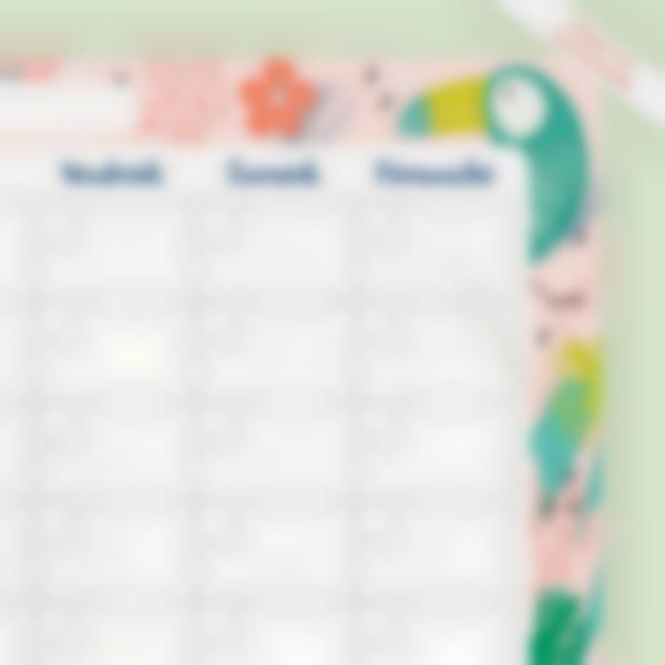Planning Mensuel avec léger défaut  - Tropical