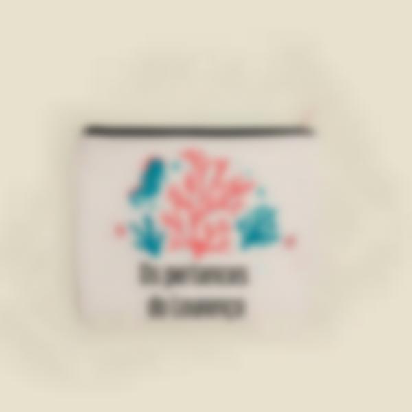 Pochette de tecido personalizada - Corais