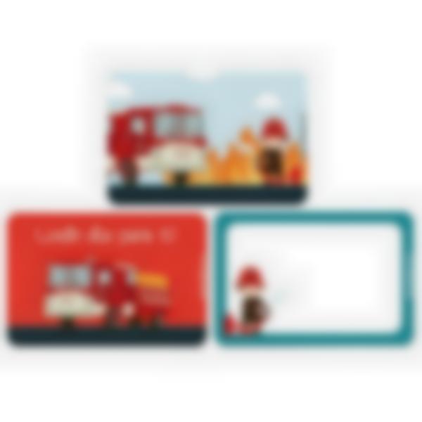 Recarga de 3 cartões magnéticos para Ludibox – lancheira – bombeiro