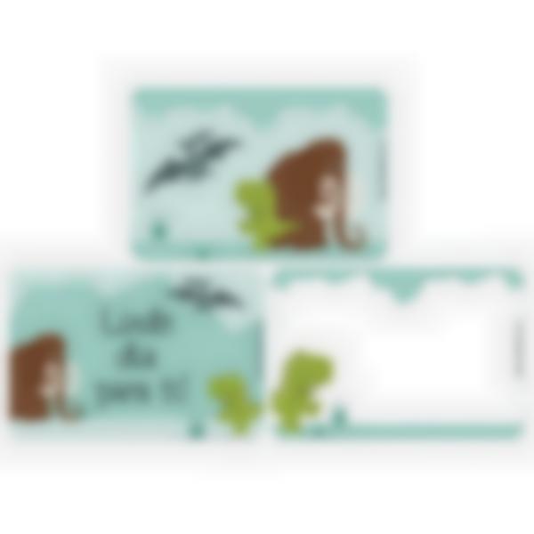 Recarga de 3 cartões magnéticos para Ludibox – lancheira – Dinossauro