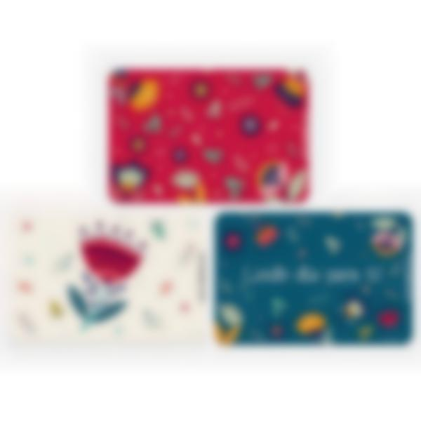 Recarga de 3 cartões magnéticos para Ludibox – lancheira – Floral
