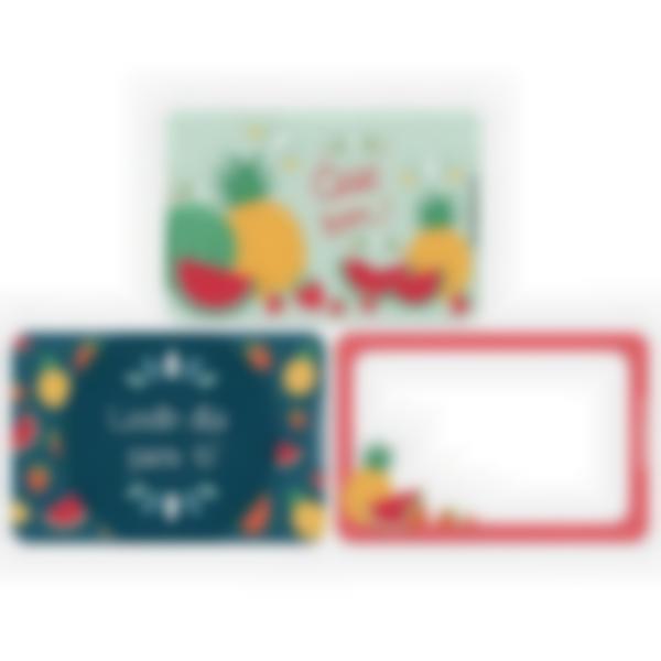 Recarga de 3 cartões magnéticos para Ludibox – lancheira – Fruta