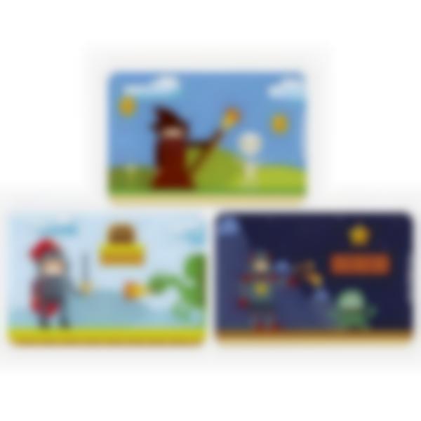Recarga de 3 cartões magnéticos para Ludibox – lancheira - Retro Games